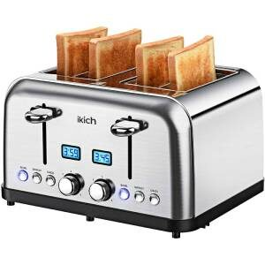 IKICH 4-Slice High Gloss Stainless Steel