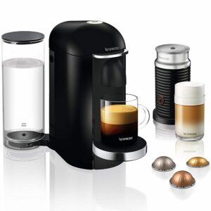Nespresso Vertuo Black with Pods and Frother