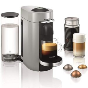 Nespresso Vertuo Silver with Pods and Frother