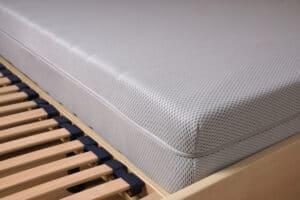 bed on slatted frame