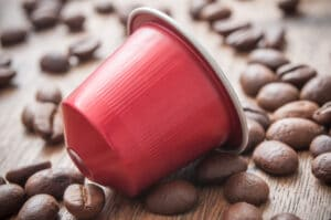 coffee capsule and beans