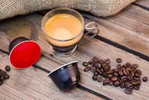 coffee pods beans and espresso
