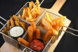 different kinds of fried food