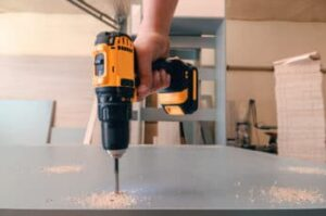 drilling into a plywood