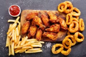 fried-chicken-chips-and-onion-rings