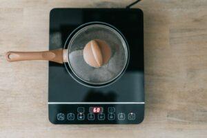 pot at electric stove