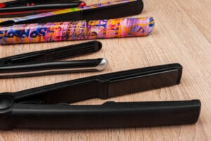 straightening irons in different styles and sizes