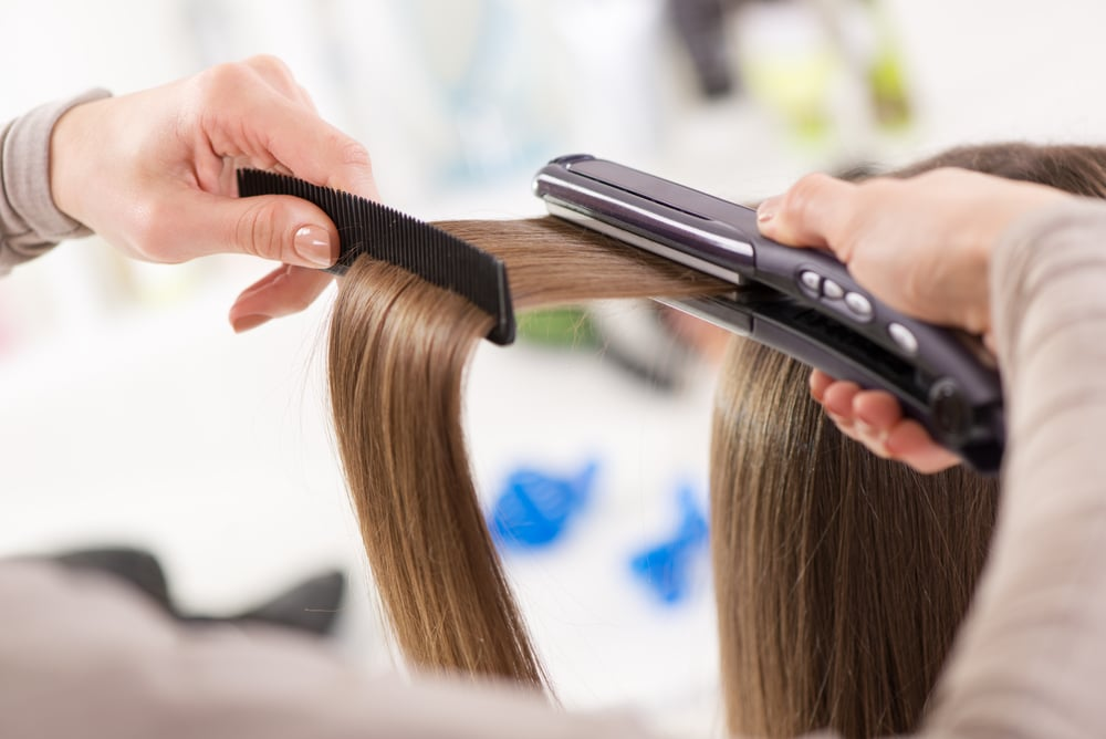 when were hair straighteners invented