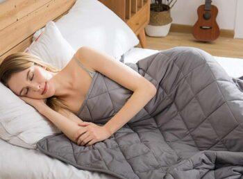 a woman dozing soundly