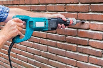 drilling a brick wall