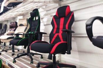 ergonomic seats in furniture store
