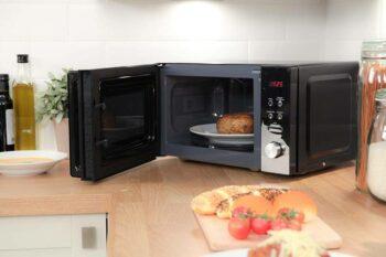 heating up bread in kitchen appliance