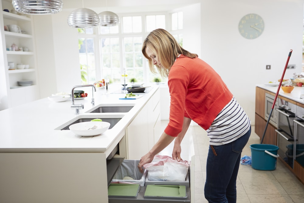 how to clean a kitchen bin