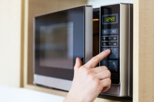 selecting settings for cooking
