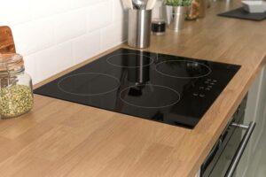 sparkling clean cooktop
