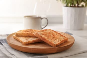 toasted slices on a plate