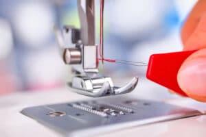 using a needle threader