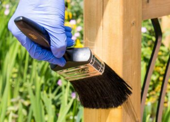 applying a wood treatment solution