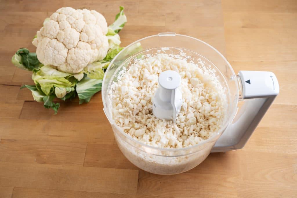 blended cauliflower
