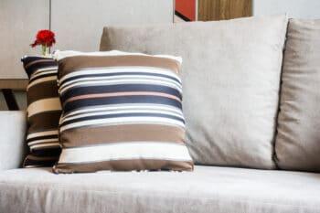 cushions on sofa