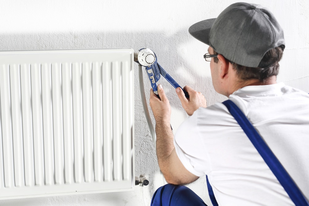 how to install a bathroom heater