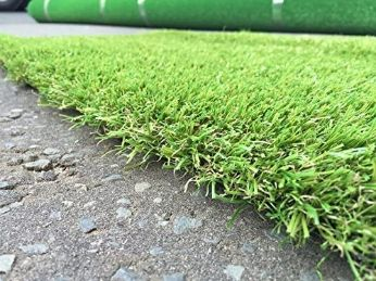 laying synthetic turf