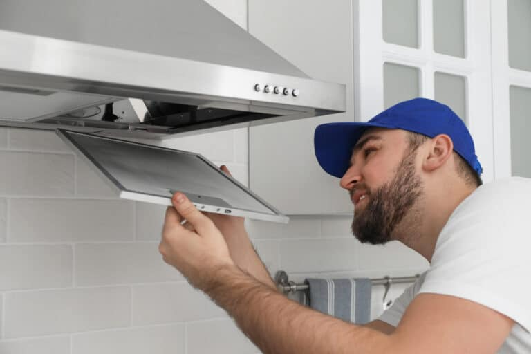 how to clean a cooker hood filter